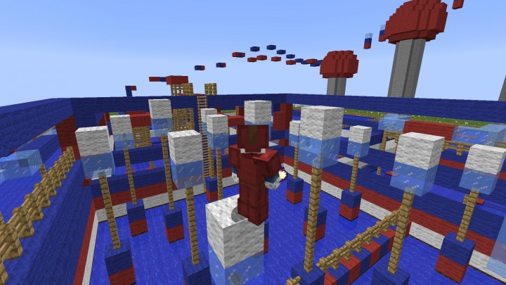 Circuito Wipeout : Circuito de obstáculos wipeout obstacle race minecraft