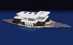 Modern Island House Minecraft Map & Project