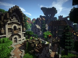 [DP Locations] Central town. Minecraft Map & Project