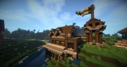 River Side Cabin Minecraft Map & Project