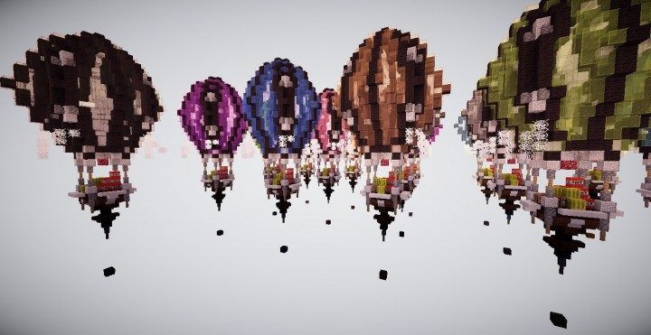 how to make a hot air balloon in minecraft pe