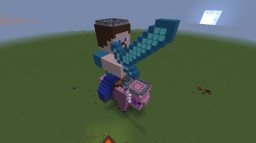Burning Steve Riding Pig Minecraft Map & Project