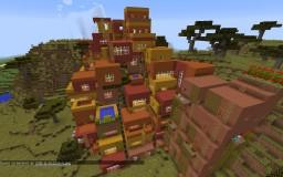 Terraced City World! 50+ Adobe Styled Houses! [V1.1.6][MCV 1.8.8] Minecraft Map & Project