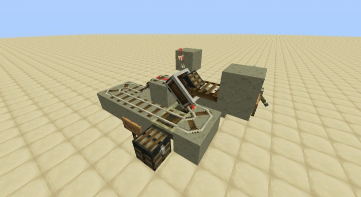 Minecart Unloading Station Unload Minecarts W Chests