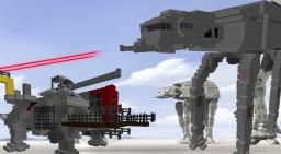Star Wars Rebels AT-AT vs AT-TE Minecraft Map & Project