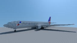 Boeing 777-200ER American Airlines Minecraft Map & Project