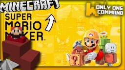 Super Mario Maker with only two command blocks Minecraft Project