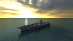 USS Nimitz Aircraft Carrier - CVN 68 (1:1 scale) Minecraft Map & Project