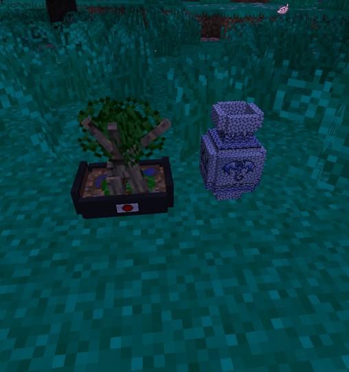 Now Porcelain Vase and a Bonsai