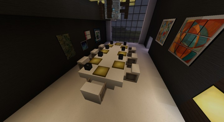 Modern home minecraft project for Dining room minecraft