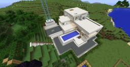 survival modern house near mushroom biome Minecraft Map & Project