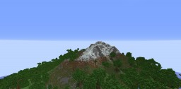 World painter Island 1kx1k with mountains Minecraft Map & Project