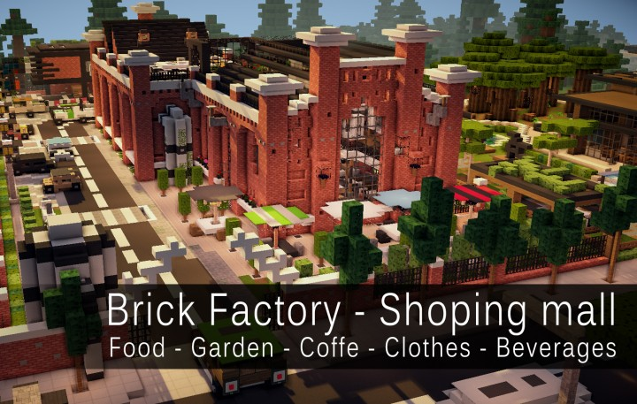 Realistic brick factory renovated into shopping mall for Craft com online shopping