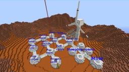 PMC Build Contest map - Mars base Minecraft