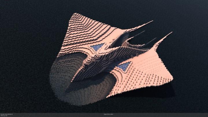 City of Meriens  Manta ray organic ship  Minecraft Project