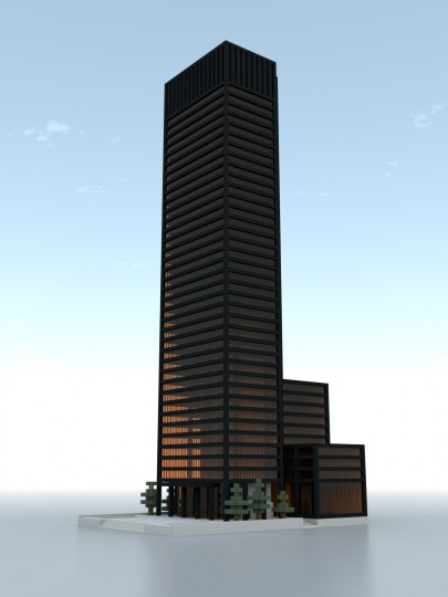 Seagram Building New York Minecraft Project