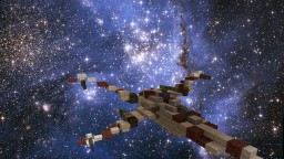star wars x-wing builded Minecraft