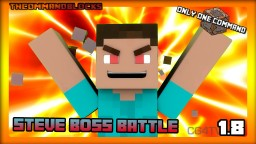 Minecraft one command block- Steve boss battle Minecraft Map & Project