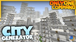 City Generator with only one command block! | Create your own towns! Minecraft Map & Project