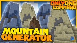 Mountain Generator with only one command block! | Icebergs, sand hills and more! Minecraft Project