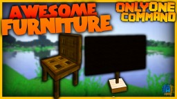 Furniture with one command! | Chairs,Tables,TVs in Vanilla Minecraft!