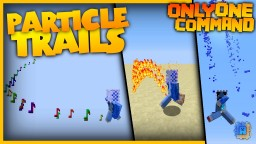 Particle Trails with only one command! | Vanilla TNT, Arrow and Flame Trails! Minecraft