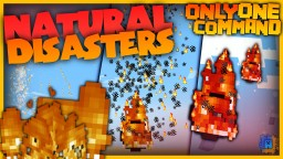 Natural Disaster with only one command!   Earthquake, Firestorm and more! Minecraft Map & Project