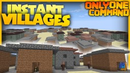Village Generator with only one command block! | Spawns Villages in seconds! Minecraft