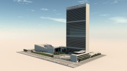UN Headquarters, New York Minecraft Map & Project