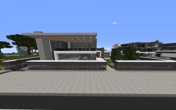 Minecraft medium sized modern house minecraft project for Medium modern house