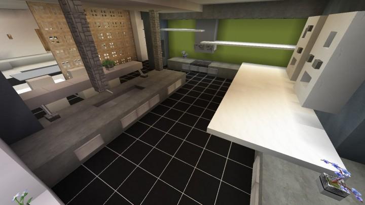 cuisine moderne minecraft project. Black Bedroom Furniture Sets. Home Design Ideas