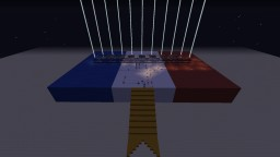 Fireworks Tribute to France,  Je suis Paris Minecraft Map & Project