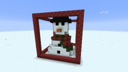 Christmas ADVENTure Snowman 13x13 build Minecraft Map & Project