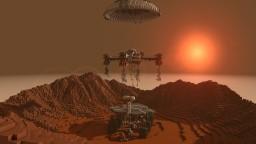 Spirit rover with skycrane (Improved) Minecraft