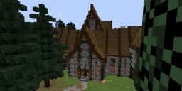 Horizontal Manor (World of Atlas) Minecraft