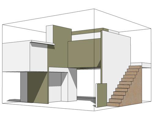 pack maison moderne ou futuriste pack futuristic or. Black Bedroom Furniture Sets. Home Design Ideas