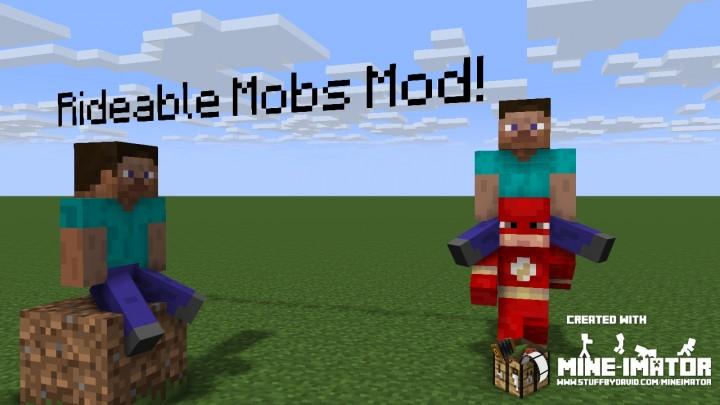 rideable mobs 10 alpha minecraft mod logo made with mine