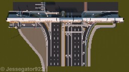 Intersection with Railroad Crossing in Minneapolis, Minnesota | Realistic [+Schematic] Minecraft