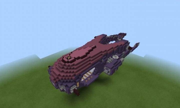 Custom Halo covenant ship. Minecraft Project