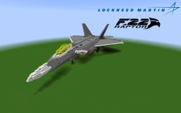 F-22 Raptor .Ver.4. [5:1] Minecraft Map & Project