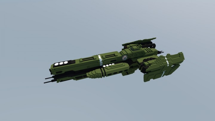 HALO) UNSC Frigate EL SALVADOR Minecraft Project