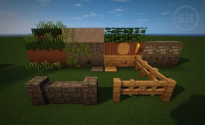 First blocks textured