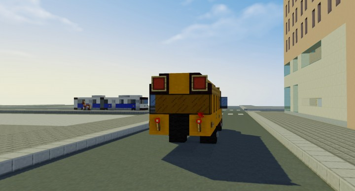 how to make a school bus in minecraft