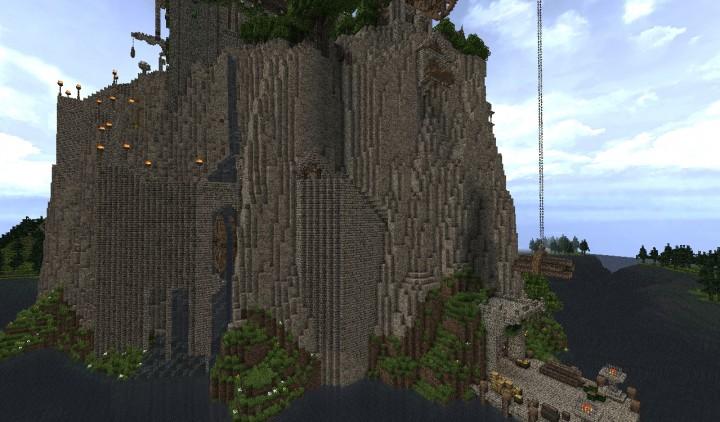 Castle atop a volcano