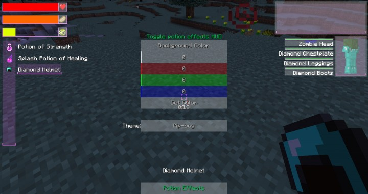 Added new Theme and Pot Effects buttons in config GUI