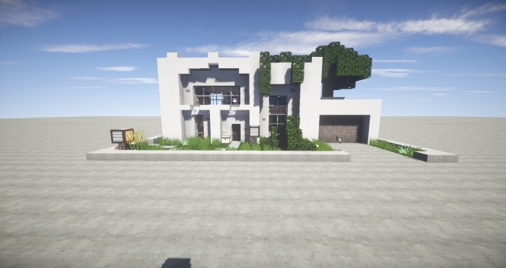 25x25 modern house minecraft project