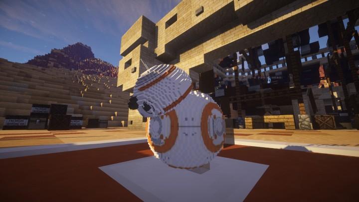 Our custom modeled BB-8!