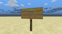 Changing text color of signs (1.8) Minecraft Blog Post