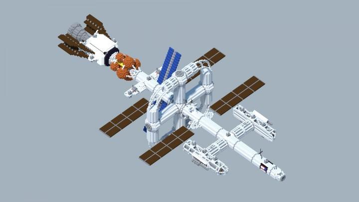 Майнкрафт пе карта космический корабль