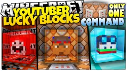 YouTubers Lucky Blocks Only One Command [1.9][15W47C] ~ thvardhan Minecraft Map & Project